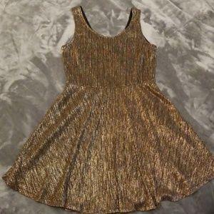 Gold/Silver Shimmer Skater Dress